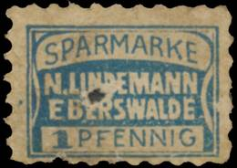 Eberswalde: Sparmarke N. Lindemann Reklamemarke - Erinnophilie