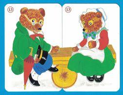 2 CARTES OURS  / AU DOS CHAT - Cartes à Jouer Classiques