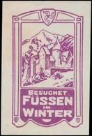 Füssen: Besuchet Füssen Im Winter Reklamemarke - Erinnophilie