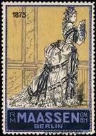 Berlin: Damen Mode 1875 Reklamemarke - Cinderellas