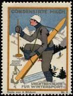 Vevey, Schweiz: Unentbehrlich Für Wintersport Reklamemarke - Vignetten (Erinnophilie)