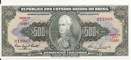 BRESIL 500 CRUZEIROS ND1955-60 UNC P 164 D - Brazil