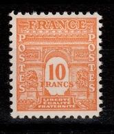 YV 629 N* (trace) Arc De Triomphe Cote 21 Euros - France