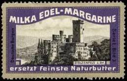 Pratau, Wittenberg: Burg Stolzenfels A. Rhein Reklamemarke - Cinderellas