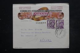 ESPAGNE - Enveloppe Commerciale Illustrée De Lucena En 1948 Pour Monaco - L 26822 - 1931-50 Briefe U. Dokumente