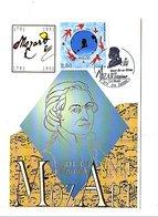 OBLITERATION ANNEE MOZART - MOZART - MOZARTISSIMO A LA REUNION SAINT CLOTHILDE - Postmark Collection (Covers)