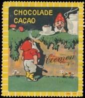 Döbeln: Cacao-Chocolade Reklamemarke - Vignetten (Erinnophilie)