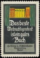 Basel: Buchhandlung Helbing & Lichtenhahn Reklamemarke - Vignetten (Erinnophilie)