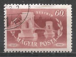 Hungary 1949. Scott #862 (U) Chain Bridge * - Oblitérés