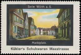 Augsburg: Marktplatz Wörth A. S. Reklamemarke - Cinderellas