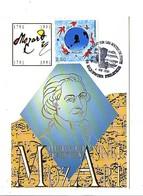 OBLITERATION ANNEE MOZART - AVEC MOZART SUR LES ROUTES DE POSTE RIQUEWIHR - Postmark Collection (Covers)