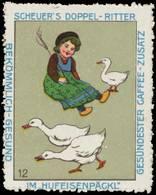 Schönebeck: Kind Hütet Die Gänse Reklamemarke - Vignetten (Erinnophilie)