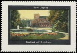 Liegnitz: Stadtpark Mit Schießhaus Reklamemarke - Cinderellas