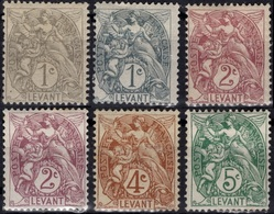 LEVANT 09 9a 10 10 12 13 * MH Type Blanc [ColCla] CV 7,40 € - Used Stamps