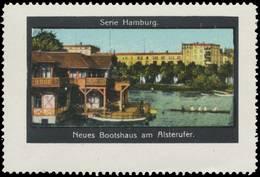 Hamburg: Neues Bootshaus Am Alsterufer Reklamemarke - Erinnofilia