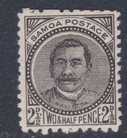 "Samoa Poste Locale N° 18 X Effigie Du ""Malietoa"" Laupepa : 2 1/2 P. Noir  Trace De Charnière Sinon TB - Samoa"