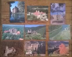 Lot De 9 Cartes Postales / AUVERGNE Châteaux DEBAISIEUX - Auvergne Types D'Auvergne