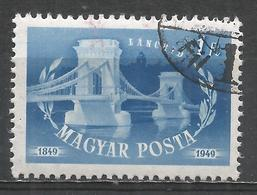 Hungary 1949. Scott #863 (U) Chain Bridge * - Oblitérés
