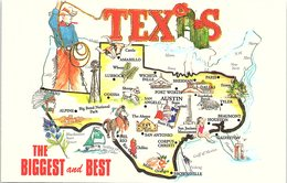 Map Of Texas, The Biggest And Best - United States