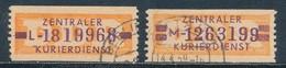 DDR Dienstmarken B 22/23 Gestempelt Originale Mi. 18,- - Dienstpost