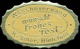 Bielefeld: Wäscheversand Wünscht Frohes Fest Reklamemarke - Erinnophilie