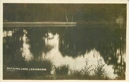 BATHING LAKE, LONGMOOR ~ AN OLD REAL PHOTO POSTCARD #876105 - England