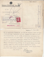 Reich, Notariat Poysdorf Official Letter Travelled 1942 Poysdorf Pmk B190401 - Briefe U. Dokumente
