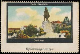 Halle/Saale: Denkmal In Szegedin Reklamemarke - Erinnophilie