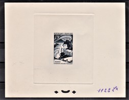 FRANCE - N° 829 - Expéditions Polaires Françaises - Epreuve De Couleur N°1122Lx Bleu-noir - Luxe - Künstlerentwürfe