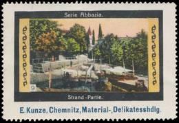 Chemnitz: Strand-Partie In Abbazia Reklamemarke - Vignetten (Erinnophilie)