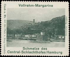 Hamburg: Caub Am Rhein Mit Der Pfalz Und Burg Gutenfels Reklamemarke - Erinnofilie