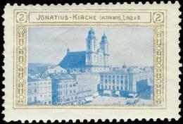 Linz: Ignatius-Kirche Alter Dom In Linz Reklamemarke - Erinnofilie