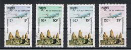 CAMBOGIA:  1986  P.A.  AEREO  IN  VOLO  -  S. CPL. 4  VAL. US. -  MICHEL  737/40 - Cambogia