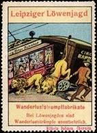 Chemnitz: Leipziger Löwenjagd Reklamemarke - Erinnophilie