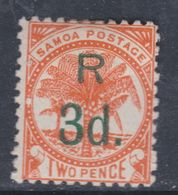 Samoa Poste Locale N° 27a X  Partie De Série : 3 D. Sur 2 P. Orange, Surcharge Verte, Trace De Charnière Sinon TB - Samoa