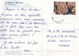 MAURTIUS POSTCARD TO FRANCE - Maurice (1968-...)