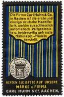 Aachen: Nähmaschinen Nadeln Reklamemarke - Cinderellas