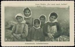 Armenische Arbeiterinnen Reklamemarke - Erinnophilie
