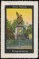 Herford: Kriegerdenkmal Reklamemarke - Erinnophilie