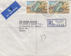 MAURTIUS REGISTERED COVER PORT LOUIS TO FRANCE - Maurice (1968-...)