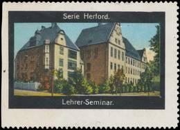 Herford: Lehrer-Seminar Reklamemarke - Erinnophilie