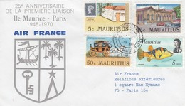 MAURTIUS  COVER PORT LOUIS TO FRANCE AIR FRANCE - Maurice (1968-...)