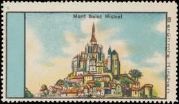 Mont Saint Michel Reklamemarke - Erinnophilie