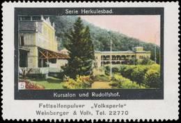 München: Kursalon Und Rudolfshof Reklamemarke - Cinderellas