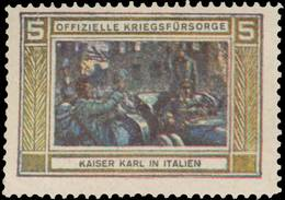 Wien: Kaiser Karl In Italien Reklamemarke - Cinderellas
