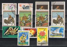 MONGOLIA:  1966/88  VARI  -  INSIEME  13  VAL.  US. -  MICHEL 436//1951 - Mongolia