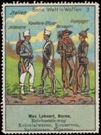 Borna: Infanterie Italien Reklamemarke - Cinderellas
