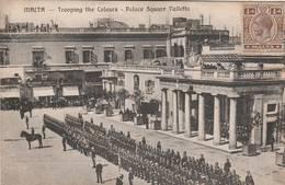 Malta  - Trooping The Colours  Palace Square Valletta - Scan Recto-verso - Malta