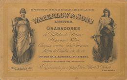 (*). (1900ca). Tarjeta Postal Ilustrada De Presentación De WATERLOW AND SONS. BONITA Y MUY RARA. - Spain