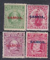 Samoa Administration Néo-zélandaise N° 72 / 75 X Partie De Série :  Les 4 Vals Trace De Charnière Sinon TB - Samoa